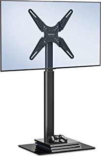 Eono by Amazon Universal Soporte para TV 19-60 Pulgadas Pedestal Giratorio Altura Ajustable para LED LCD QLED OLED MAX.VESA:400x400mm,35kg TV