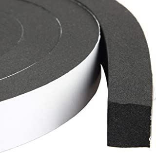 Foam Weather Stripping Door Insulation Foam Strips with Adhesive Automotive Weather Strip 1 Inch Wide X 3/4 Inch Thick X 13 Feet Long (2 Rolls of 6.5 Ft Long Each)