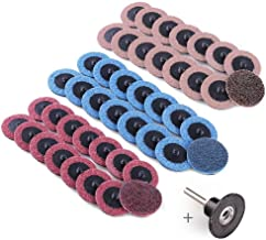2 Inch Sanding Discs by LotFancy, 45PCS Roll Lock Surface Conditioning Discs, Fine Medium Coarse Assorted Pack, R-Type Quick Change Disc with Disc Pad Holder, for Die Grinder