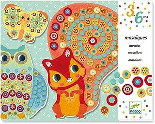 DJECO Kit de mosaïque millefiori Multicolore Thème Animaux de la forêt Notice (Langue française Non Garantie)
