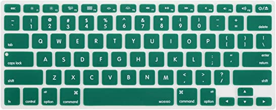 MOSISO Silicone Keyboard Cover Compatible with MacBook Pro 13/15 Inch (with/Without Retina Display, 2015 or Older Version),Older MacBook Air 13 Inch (A1466 / A1369, Release 2010-2017), Peacock Green