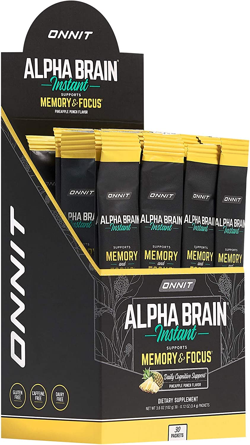 ONNIT Alpha Brain Instant - Pineapple Cheap SALE Start B Punch Flavor Max 53% OFF Nootropic