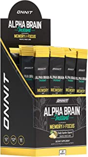 ONNIT Alpha Brain Instant - Pineapple Punch Flavor - Nootropic Brain Booster Memory Supplement - Brain Support for Focus, ...