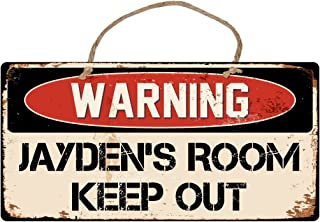 StickerPirate A488 Jaydens Room Keep Out 5