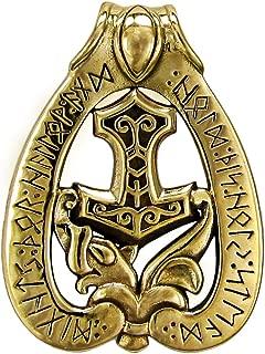 Bronze Mjolnir Thor's Runic Dragon Hammer Pendant
