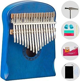 AECCN Kalimba 17 Keys Thumb Piano - Pocket Size With Study Instruction and Tune-Hammer