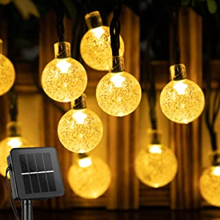 Solar String Lights Outdoor 60 Led 35.6 FT Crystal Globe Lights with 8 Lighting Modes, Waterproof Solar Powered Patio Ligh...