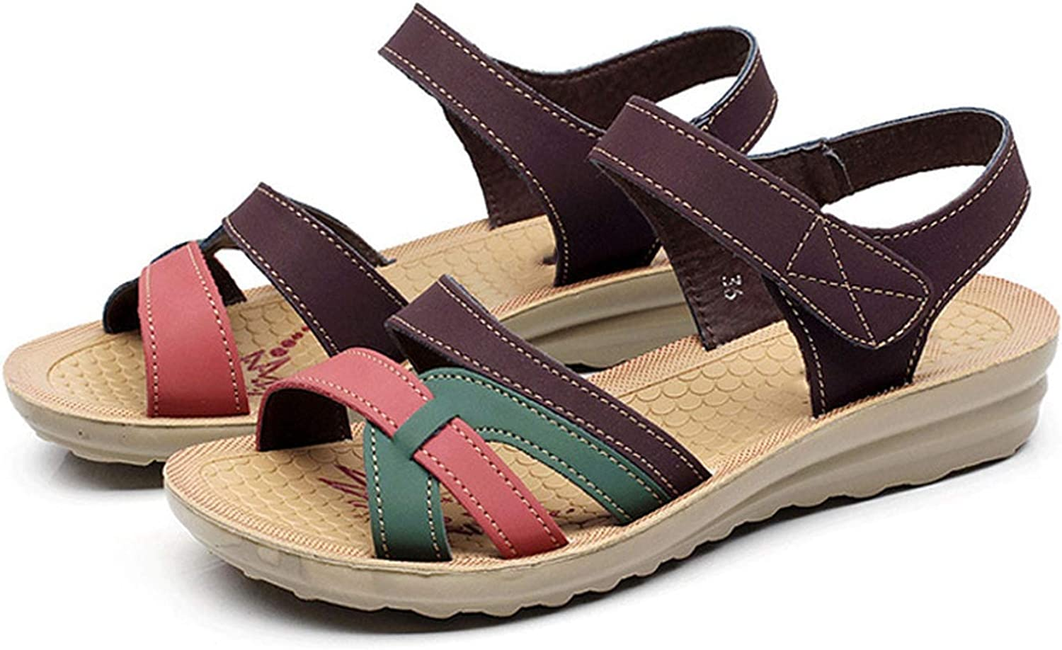 Summer Women Sandals Comfort Flat Sandals Flip Flop Mothers shoes Women Slip-on