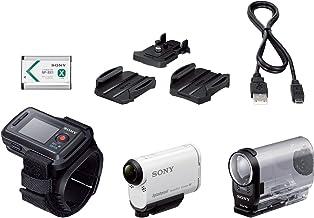 FDR-X1000VR et HDR-AS200V Compatible Sony FDR-X1000V DURAGADGET Sac /à Dos en Nylon r/ésistant /à leau pour cam/éras embarqu/ées et Accessoires