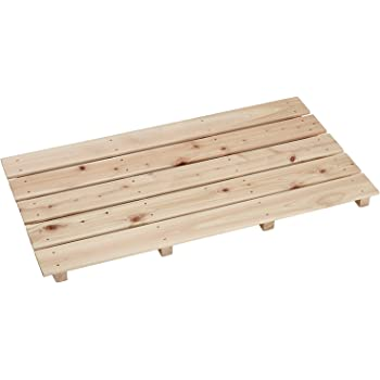 池川木材 すのこ 桧 中 5枚4本足 85×46.5×3.7cm