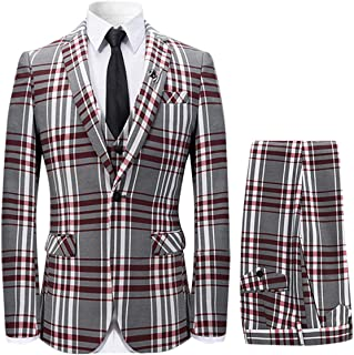 red tartan suit men's