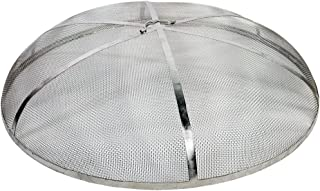 Sunnydaze Fire Pit Spark Screen Cover - Round Outdoor Heavy Duty Metal Firepit Lid Protector - Rust Resistant Stainless Steel Replacement Accessory - 40 Inch