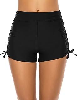Lecieldusoir Women's Swim Shorts High Waisted Swimsuit Bottoms Bikini Boy Shorts Bathing Suit Board Shorts