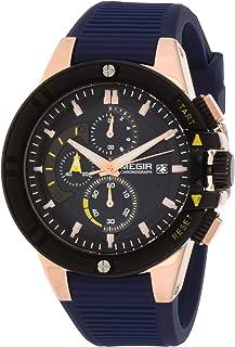 ساعة كوارتز للرجال من ميجر بعرض كرونوغراف وسوار سيليكون طراز 2095G