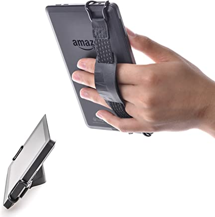 """TFY Security Hand Strap with Leather Belt Holder Stand for Kindle Voyage, 6"""" / Kindle Paperwhite, 6"""" / Kindle Fire, 6"""""""