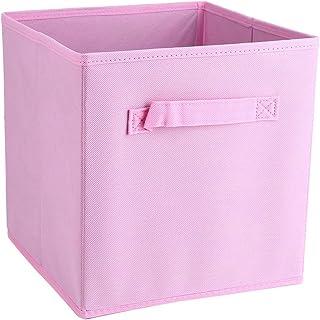 Lot de 6 Bacs de Rangement en Textile Non-Tissé, Pliable Boîtes de Rangement avec Poignées Doubles, Cubes de Rangement pou...