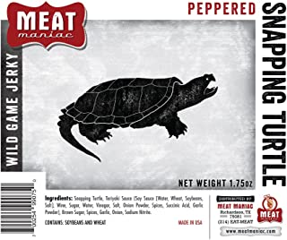 Meat Maniac Peppered Snapping Turtle Jerky (1.75oz)