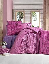 فيكتوريا حجم مفرد,متعددة,نمط مزين بالورود,زهري - اطقم اغطية سرير