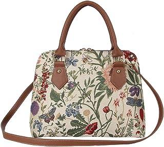 eca427e2d964 Ladies Tapestry Top Handle Handbag Shoulder Bag with Garden Flower by  Signare