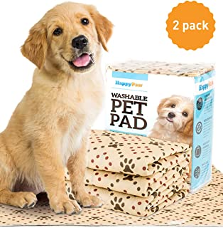 Washable Pee Pads for Dogs (2 Pack) - Reusable Puppy Pads XL Size - Premium Waterproof Dog Training Potty Pads (Extra Larg...