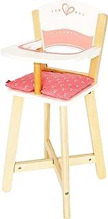 Award Winning Hape Babydoll Highchair Toddler Wooden Doll Play Furniture,Multi, L: 10.1, W: 10.4, H: 22.4 inch