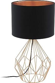 EGLO PEDREGAL 1 lámpara de mesa Negro, Cobre E27 60 W - Lámparas de mesa (Negro, Cobre, Tela, Acero, Trend, IP20, II, E27)