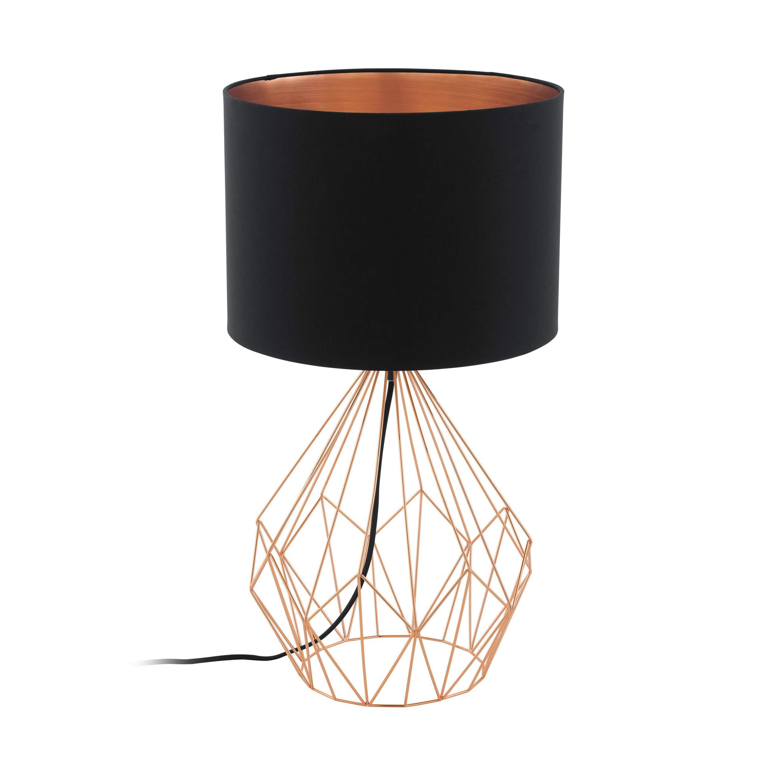 EGLO PEDREGAL 1 lámpara de mesa Negro, Cobre E27 60 W - Lámparas ...