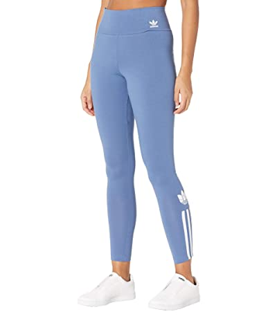 adidas Originals 3-D Trefoil High-Waisted Tights (Crew Blue) Women