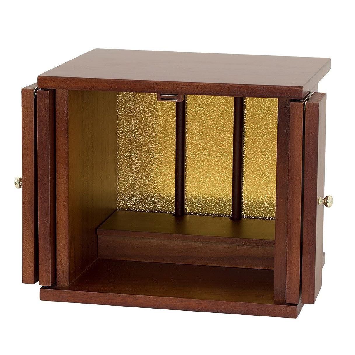 世論調査形アスペクトクロシオ 小型仏壇 ちいさやか 改訂版 幅30cm ミニ仏壇 095499