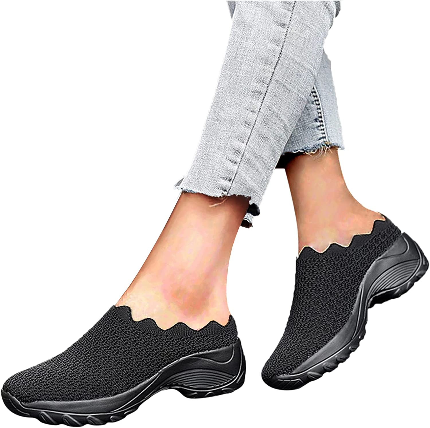 Womens Max 47% OFF Casual Reservation Slip On Sneakers Summer Wedge Sp Toe Women's Round