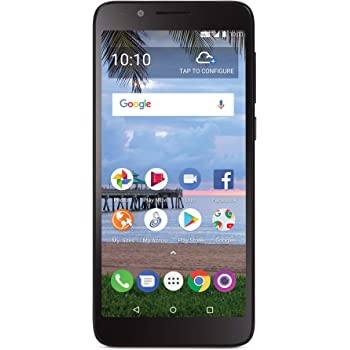 TracFone TFALA502DCP Carrier-Locked TCL LX 4G LTE Prepaid Smartphone - Black - 16GB - Sim Card Included - CDMA