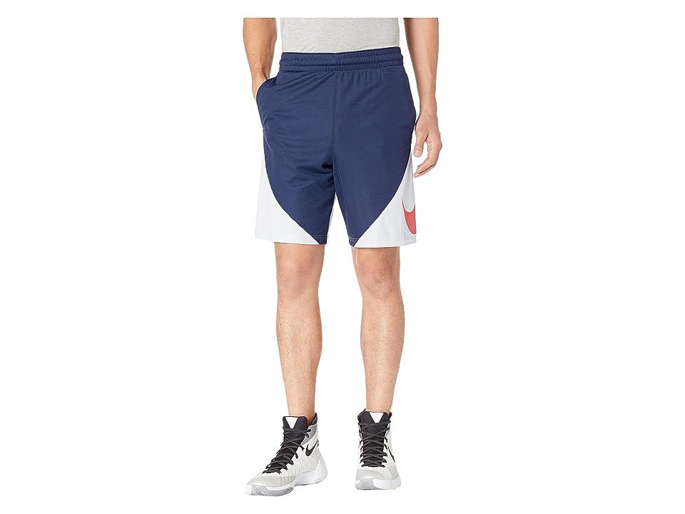 Nike Dry 9 Basketball Short (Midnight Navy/University Red) Men