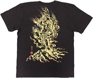 蔵王権現 Tシャツ 白黒 半袖 和柄 仏画 日本画 手描き 墨絵 伯舟庵