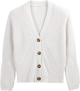 La Redoute Collections Womens Cotton Chunky Knit Buttoned Cardigan