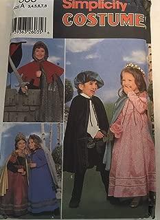 Simplicity 8318 Size A (3,4,5,6,7,8) Child's Costume Sewing Pattern: Knight, Prince & Princess