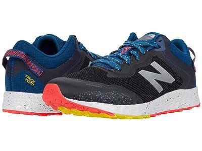 New Balance Kids Fresh Foam Arishi Trail (Little Kid/Big Kid) (Black/Rogue Wave) Boys Shoes