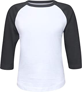 ILTEX Kids & Youth Baseball Raglan T-Shirt 3/4 Sleeve Infant Toddler Youth Athletic Jersey Sports Casual (20+ Colors)