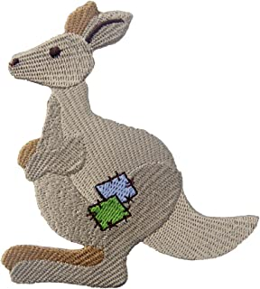 Kangaroo Patch Embroidered Applique Iron On Sew On Emblem