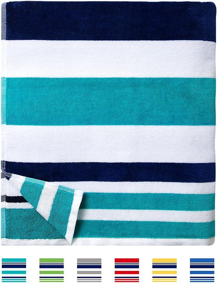 Horizontal Striped Fluffy Beach Towel