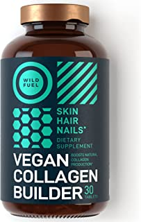 Maximum Potency Vegan Collagen Builder - Wild Fuel Cruelty-Free Kickstart Formula - Concentrated Support for Younger-Looki...