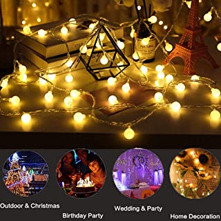 led globe lights string
