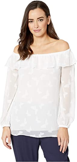 05e7bf50a8a7f 11. MICHAEL Michael Kors. Butterfly Off Shoulder Top