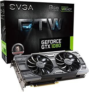 EVGA 08G-P4-6286-KR NVIDIA GeForce GTX 1080 8GB - Tarjeta gráfica (Activo, NVIDIA, GeForce GTX 1080, GDDR5X, PCI Express 3.0, 7680 x 4320 Pixeles)