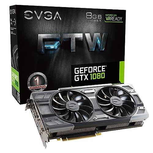 EVGA GeForce GTX 1080 FTW GAMING ACX 3.0, 8GB GDDR5X, RGB LED, 10CM