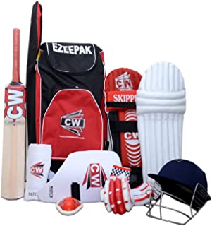 C&W CW Cricket Complete Set with Accessories in Full Size (Ideal for Senior Players i.e Above 14 Years Child)
