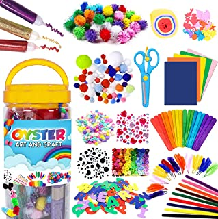 Hiba's Arts and Crafts Supplies for Kids - Assorted Craft Art Supply Kit for Toddlers Age 4 5 6 7 8 9 - All in One D.I.Y. ...