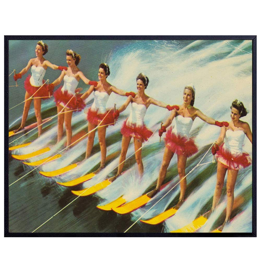 Vintage Water Ski Wall Art Decor - Max 55% OFF Print quality assurance Florida