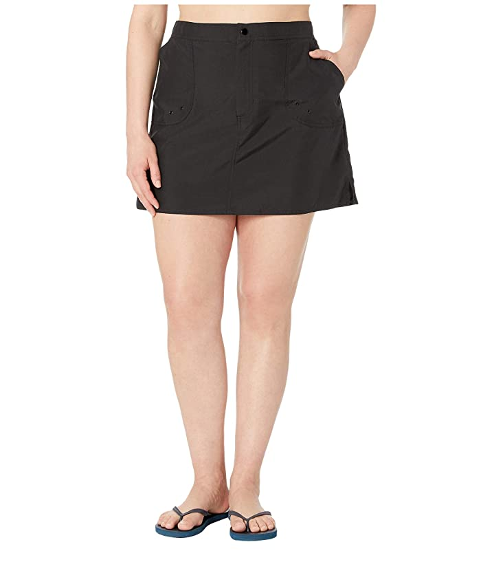 Maxine of Hollywood Swimwear Plus Size Solids Woven Boardskirt (Black) Women