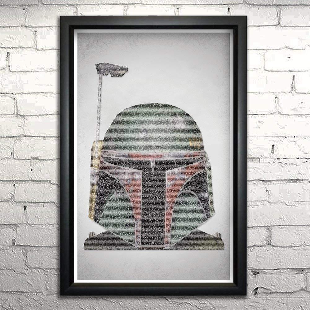 Empire Strikes Back word art print movie 11x17