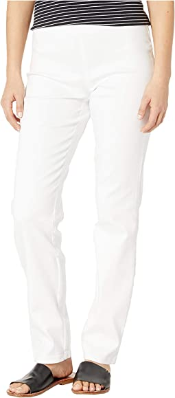 Petite D-Lux Denim Pull-On Super Jeggings in White
